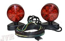 LED Portable Trailer Mounting Light Kit w/ Magnetic Base Tow Truck Trailer NEW