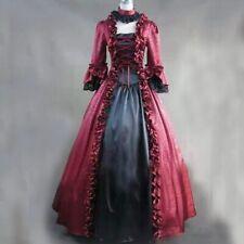 Gothic Women Lace-Up Long Dress Vintage Reenactment Ball Gown Dress Victorian