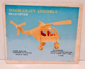 Wood Craft Assembly Helicopter Puzzle Toy Brand NEW Sealed