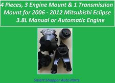 4 Pieces, Engine &  Transmission Mount for 2006-2012 Mitsubishi Eclipse 3.8L