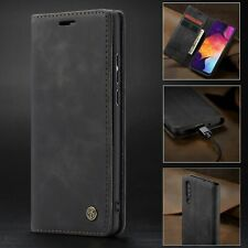 Cell Phone Case Wallet Cover Leather Card Holder Magnetic Flip Solid Accessories