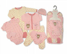 7 Piece Baby Girls Layette Clothing Gift Set Purrfect Me Design by Nursery Time