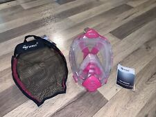 Wave Pink  Full Face Snorkel Mask, Only Used Once. Size S/M
