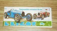 OLDER ELICOR 1982 1/43 SCALE MINIATURE MODEL CAR CATALOG- NEW- L188