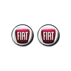 Adesivo Fiat 3D Ufficiale Logo 12 mm, 2 pezzi