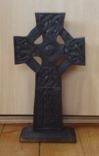 FairTrade Hand Carved Wooden Free standing Celtic Cross Handcrafted wood carving