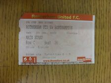 05/01/2002 Ticket: Rotherham United v Southampton [FA Cup] (corner slightly trim