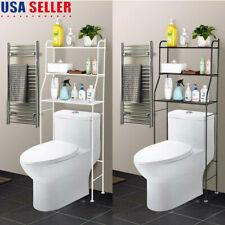 3-Tier Over Toilet Bathroom Space Saver Metal Towel Storage Rack Shelf Organizer