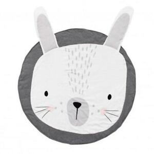 Baby play Mat round - Grey Bunny