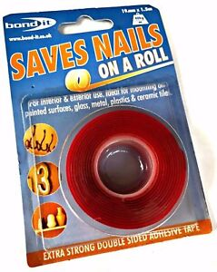 NEW SAVES NAILS DOUBLE-SIDED ADHESIVE TAPE EXTRA STRONG CLEAR WATER-RESISTANT