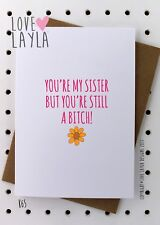 Greetings Card / Birthday / Cheeky / Comedy / Love Layla / Funny / Humour / K65