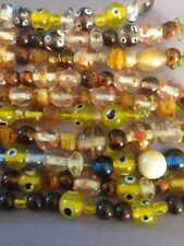 New Lot 10 strands of Mixed Sizes, Colors Lampwork Glass and Glass Beads. Pretty