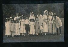 Berkshire Berks READING? peasant group show/pageant c1910/30s? RP PPC Foulsham
