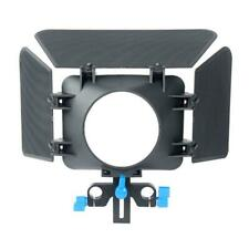 M1 Matte Box Camera Shade for 15mm Rail Rod Follow Focus Rig Cage Camera #8Y