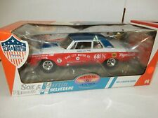 SOX AND MARTIN 1965 PLYMOUTH BELVADERE   RACE CAR  1.18 DIECAST  NHRA