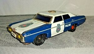 Sears ALPS 1969 Chevrolet Impala Police Car Battery Operated Japan Tin Bump N Go
