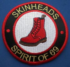 Skinheads Spirit of 69 Circle Red, Black & White Embroidered Patch