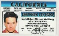 Marky Mark Wahlberg Drivers License star of Transformers Boogie Nights Daddy