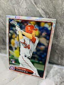 2012 Topps Chrome X-Fractor Bryce Harper RC #196 Rookie Refractor