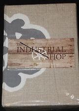 The Industrial Shop Architectural Tile King Duvet Set 3 pc new