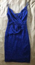 Incredible Guess Lace Royal blue Cocktail Clubbing Dress Xs