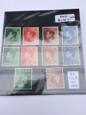 Gb Edward Viii 1936 Definitives (Sg 457-460) Mnh & Used + 2v Inv Wmk (100160)