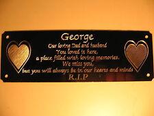 AMORE Cuore Bench Memoriale Placca Targa Cartello Personalizzato Inciso 160x55mm