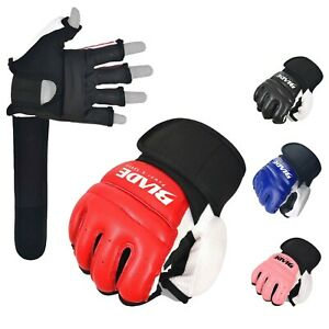 Blade Leather MMA Martial Arts Gloves Training Boxing Body Combat Punch Bag
