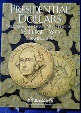 HE Harris Presidential Dollars Vol 2, P & D Starting 2012 Coin Folder Album Book