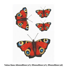 'Peacock Butterfly' Temporary Tattoos (TO021093)
