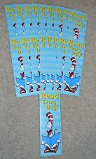 """Lot of 18 Dr Seuss Cat in the Hat """"Read Every Day!"""" Bookmarks school teachers"""