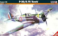 Curtiss H-75 A3 HAWK (francese, finlandese, Polacco & LUFTWAFFE MKGS) 1/72 mistercraft