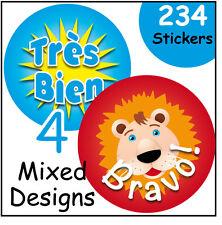 Teacher's reward stickers, School or Nursery, French Language, praise