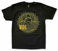 "VOLBEAT ""GANGSTER FLAMES"" BLACK T-SHIRT NEW OFFICIAL ADULT BEYOND HELL ALBUM"