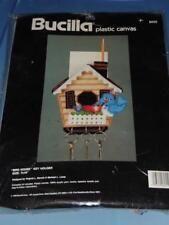 BUCILLA BIRD HOUSE KEY HOLDER KIT #6055 PLASTIC CANVAS 7x10