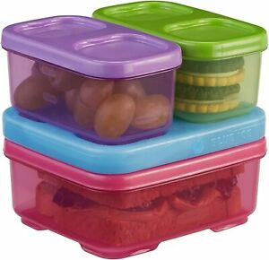 Rubbermaid LunchBlox Kids Lunch Box & Food Prep Containers with Blue Ice - Pink