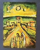 """Georges Rouault """"Twilight""""  Mounted Offset Color Lithograph 1971"""