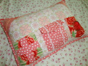 April Cornell New Pink Floral Pillow Cushion RARE Vintage Romantic Princess Cute