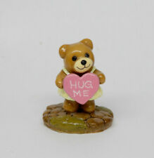 Wee Forest Folk Donna Petersen Heart Hug Me Bear Miniature Artist Signed 1986