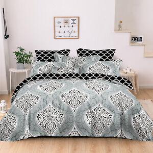 100% Cotton All Size Soft Quilt Duvet Doona Cover Set Bedding Pillowcase Utopia