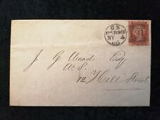 Großbritannien Brief von 1865 - Königin Victoria;Buchstaben in den Ecke Nr.2