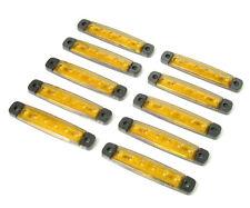10x 24v Led Yellow Side Marker Light Lamp Truck Trailer Lorry Caravan Waterproof