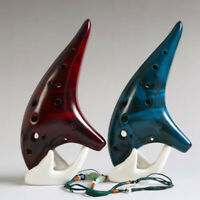 12 Holes Ceramic Ocarina Flute C Smoked Burn Submarine Style Musical Instrume Fy
