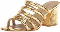 Donald J Pliner Wes-Ks Leather Open Toe Special Occasion Mule Sandal Retail $228