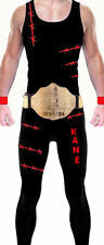 Wrestling Theme Kane Style Mens Fancy Dress Costume Party Outfit Unique WWF WWE