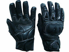 Summer Motorcycle Motorbike Kevlar Knuckle Protection Leather Vented Gloves 2xl Black
