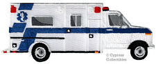 AMBULANCE iron-on patch RESCUE VEHICLE embroidered EMERGENCY PARAMEDIC EMT EMS