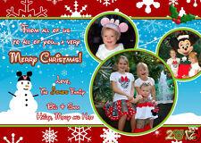 disney christmas photo greeting card mickey mouse