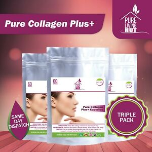 Pure Marine Collagen Plus Tablets, Anti Ageing, Healthy Skin & Hair Natural