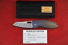Custom Lucus Burnley M69 Zirwash CPM-154 Sheepsfoot Blade, 90's Fade Anodized Ti
